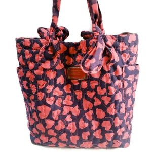 Marc Jacobs Pink Purple Embroidered Tote Bag